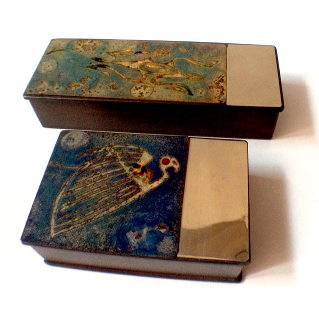 Argentinian Etched Boxes - A Pair - Image 2 of 8