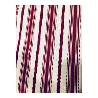 Red & White Stripe Fabric