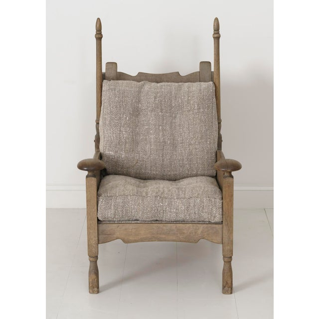 Linen Mid-Century Modern Swedish Fauteuil With Original Patina For Sale - Image 7 of 11