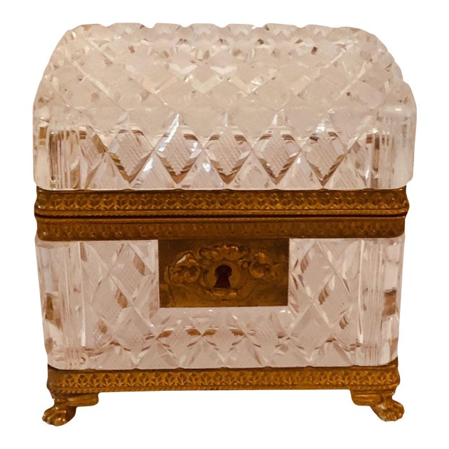 Antique Baccarat Crystal Box For Sale
