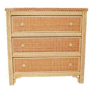 1970s Arts and Crafts Henry Link Wicker Dresser For Sale