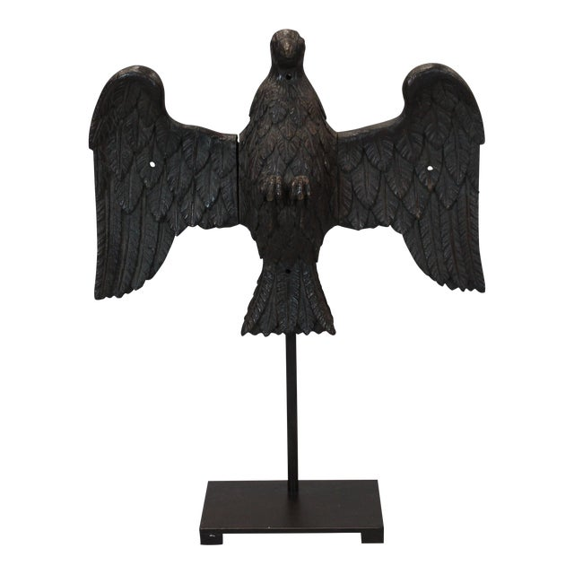 19th Century Carved Wood Oak Eagle - Image 1 of 5