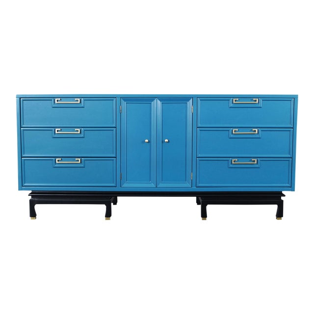 Vintage Lacquered Dresser by American of Martinsville For Sale