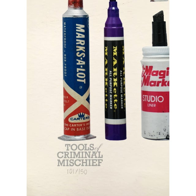 """Contemporary Limited Edition Art Print """"Tools of Criminal Mischief: Markers Edition"""" by Roger Gastman For Sale - Image 10 of 12"""