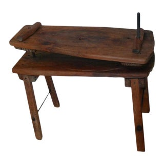 End Table From Wooden Cheese Press, 19th Century French Country For Sale