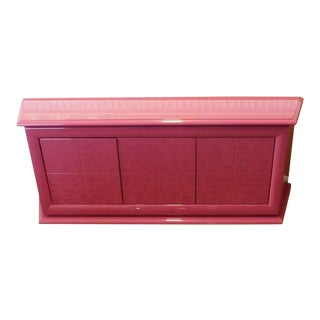 Pink Lacquered Contemporary Dining Room Credenza