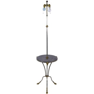 Chapman Nickel & Brass Rams Head & Hooved Floor Lamp & Table