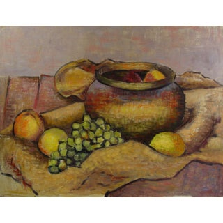 Mid-Century Modern Still Life Painting For Sale