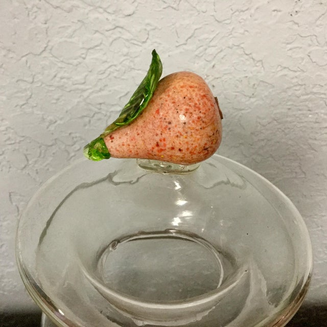 Farmhouse Italian Glass Hand Blown Drug Jar For Sale - Image 3 of 7