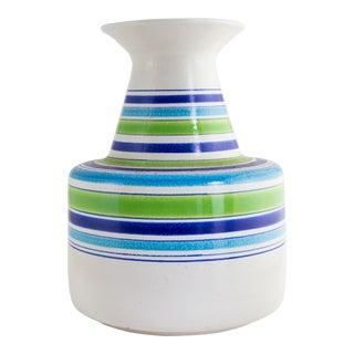 Striped Italian Midcentury Ceramic Vase for Rosenthal Netter For Sale
