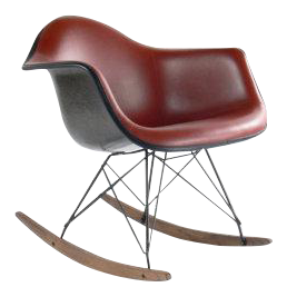 Eames For Herman Miller Armchair Rocker Rocking Chair Fiberglass Naugahyde