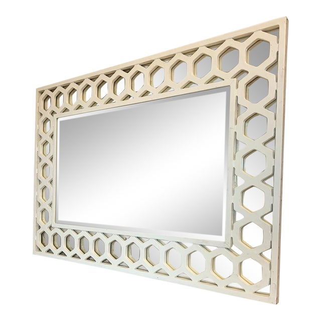 Angeline Rectangular Fretwork Mirror For Sale