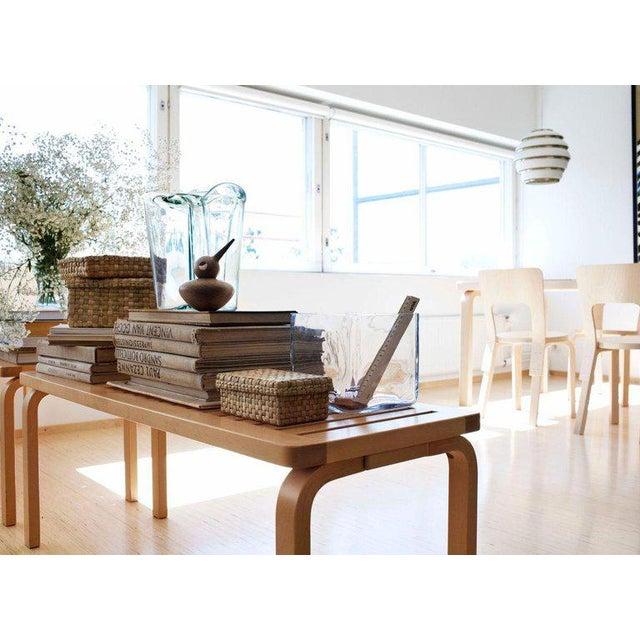 2010s Scandinavian Modern Alvar Aalto for Artek Black Lacquer Bench For Sale - Image 5 of 6