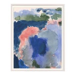 Abstract Impressionistic Washy Framed Painting