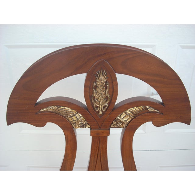 Traditional Empire Revival Dining Chairs - Set of 8 For Sale - Image 3 of 8