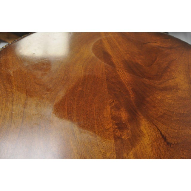 Wood Chippendale Style Mahogany Pie Crust Tilt Top Tea Table with Ball and Claw Feet For Sale - Image 7 of 13