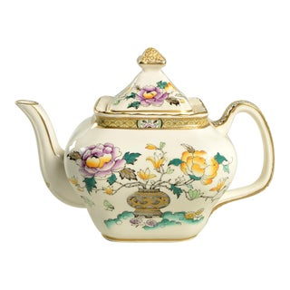 Early 20th Century Mason's Chinese Peony Teapot For Sale