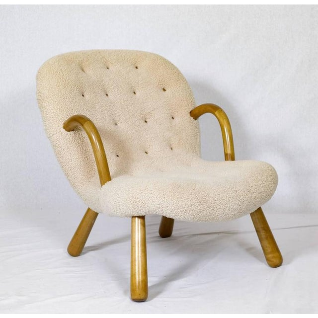 "1940s Philip Arctander ""Clam"" Chair For Sale - Image 5 of 10"