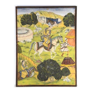 Mughal School Large Painting For Sale
