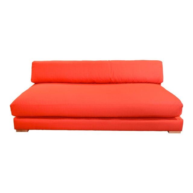 Modern Armless Lounge Sofa | Chairish