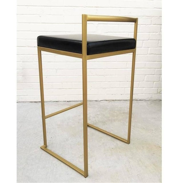 Six Minimalist Modern Bar Stools by Enzo Berti For Sale In Dallas - Image 6 of 9