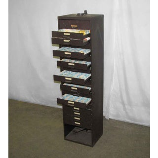 Industrial Metal Tall Narrow Cabinet Preview