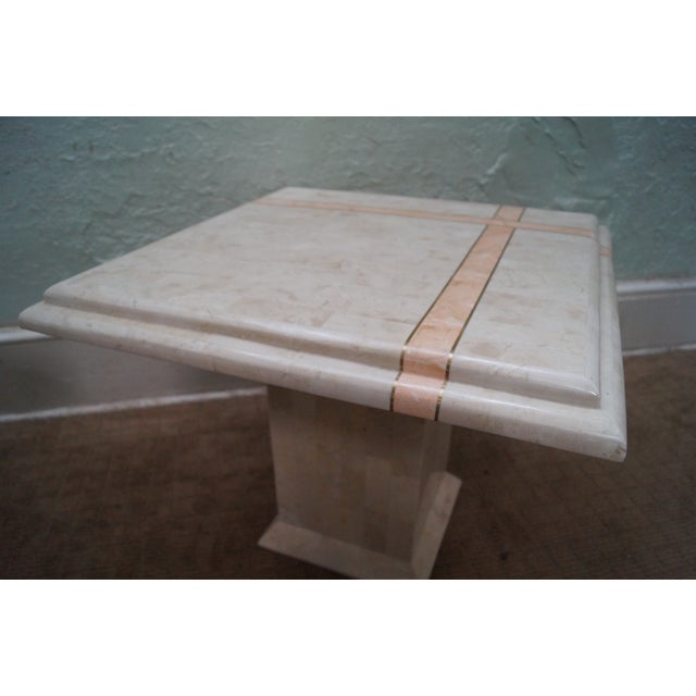 Maitland Smith Stone Marble Tables - A Pair For Sale - Image 9 of 10