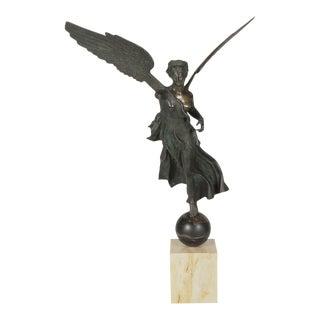 19th Century Italian Grand Tour Bronze Figure of Nike