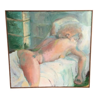 Nude Woman Painting on Canvas For Sale