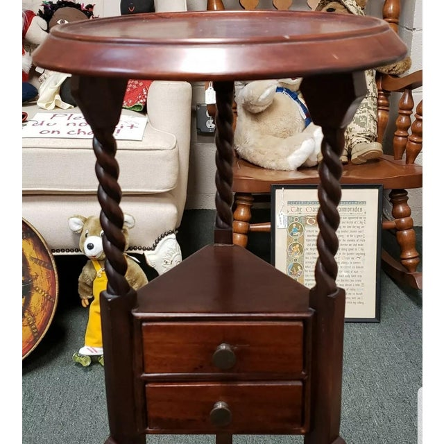 1880 English Victorian Queen Anne Style Mahogany Wash Stand For Sale - Image 4 of 9