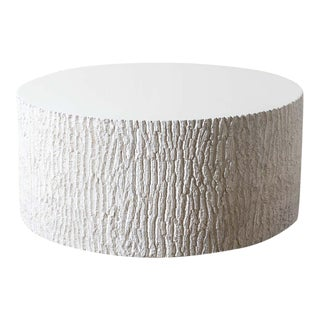 Modern Bark Textured Resin Coffee Table For Sale