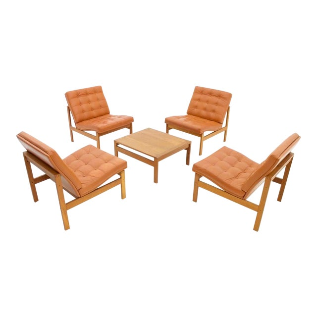 Torben Lind and Ole Gjerlov Modular Seating Group Chairs Sofa for France & Son For Sale