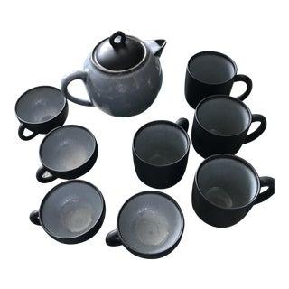 French Ceramic Teapot Set
