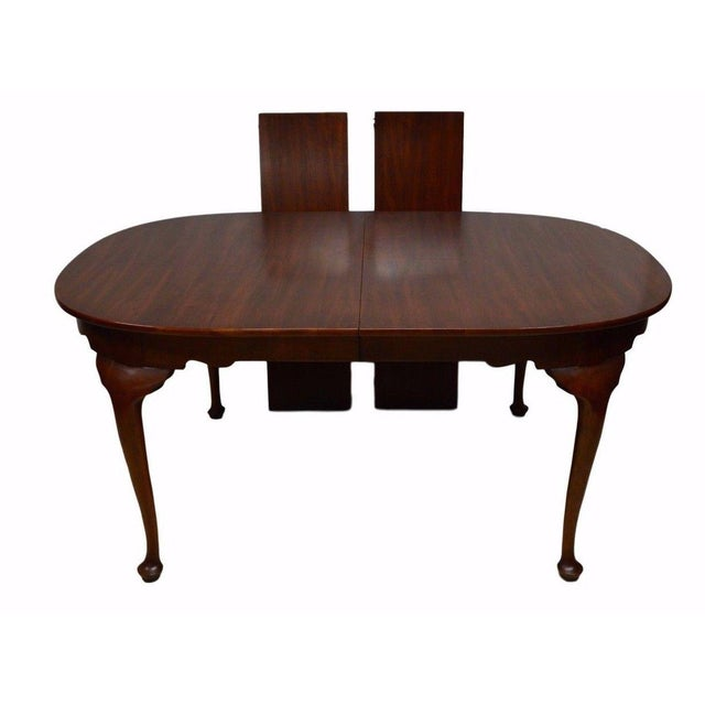 Henkel Harris Solid Cherry Queen Anne Style Dining Table For Sale - Image 11 of 11