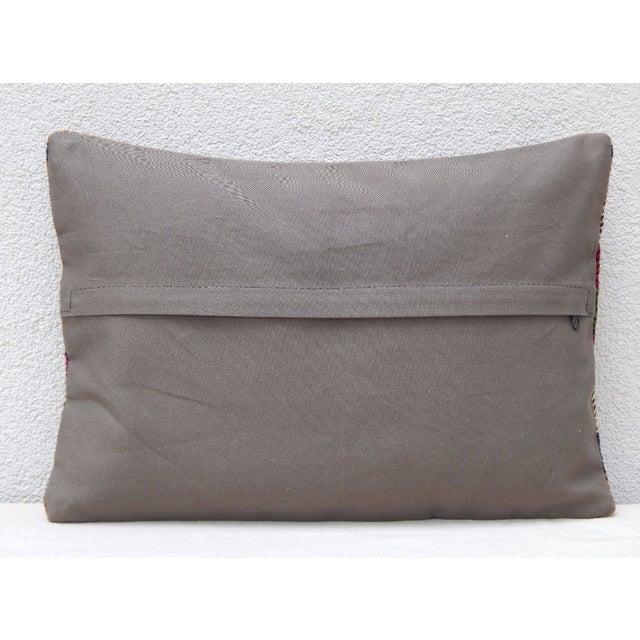 1990s Turkish Kilim Lumbar Pillow For Sale - Image 5 of 6