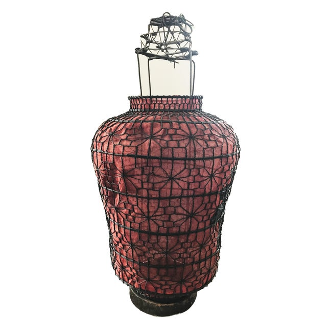 "Old Chinese Red Lanterns 28"" H For Sale - Image 4 of 7"