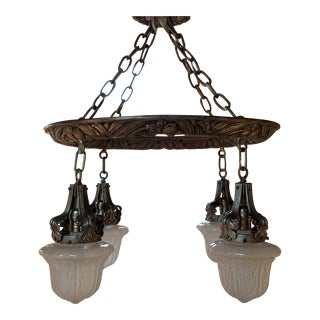 Classic Revival Light Restored Fixture For Sale