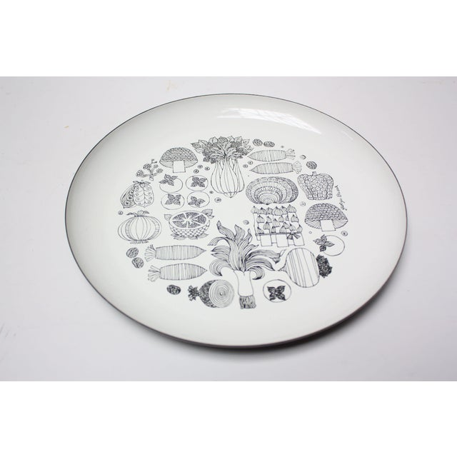 Georges Briard Enamel Fruit / Vegetable Plate For Sale - Image 9 of 9
