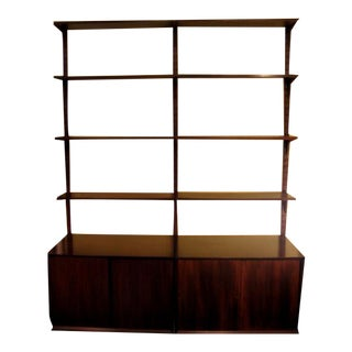 Poul Cadovius 2 Bay Cado Wall System in Brazilian Rosewood For Sale