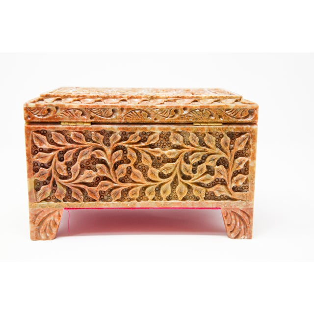 Hand-Carved Stone Jewelry Box Rajasthan, India For Sale - Image 12 of 13