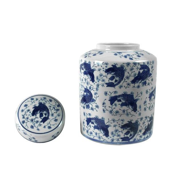 Koi Fish Porcelain Tea Vessel - Image 2 of 4
