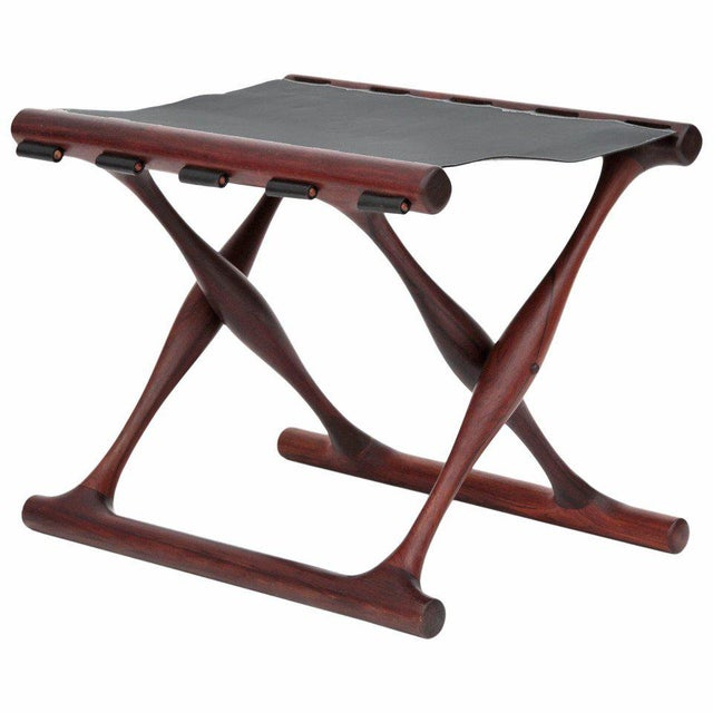 Rare Poul Hundevad Rosewood Folding Stool For Sale In Phoenix - Image 6 of 6