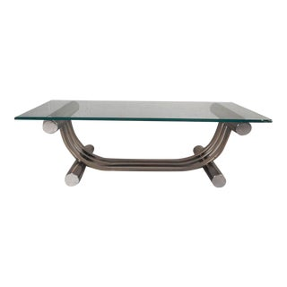 Vintage Modern Harp Shaped Coffee Table by Dia For Sale