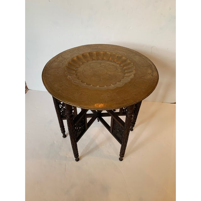 Round Moroccan Tray End Table For Sale - Image 13 of 13