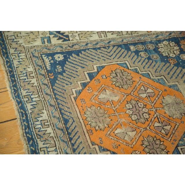 """Antique Caucasian Square Rug - 3'6"""" x 4'4"""" - Image 7 of 10"""