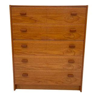 Vintage Modern Teak Highboy Dresser by Jesper For Sale