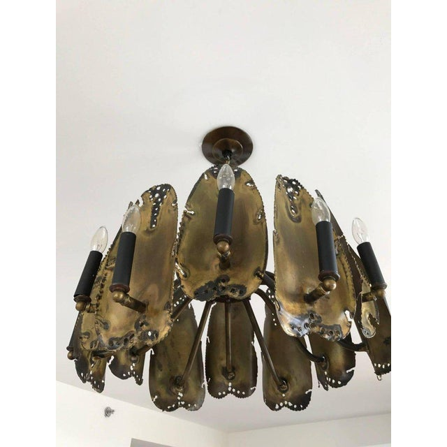 Mid-Century Modern Brutalist Chandelier Designed by Tom Greene For Sale In New York - Image 6 of 9