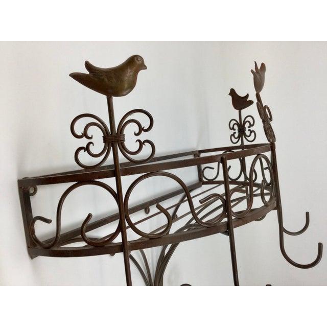 Vintage Steel Wall Pan Holder Shelf For Sale - Image 10 of 13