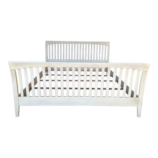 Ethan Allen King Size Slatted Sleigh Bed For Sale