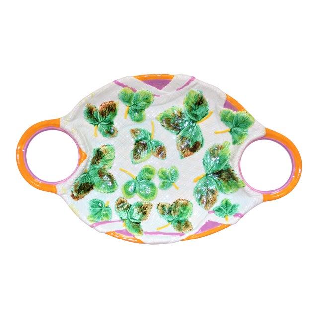 Vintage Mottahedeh Majolica Platter For Sale